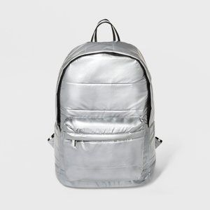 Silver Quilted Dome Backpack / Wild Fable Bag